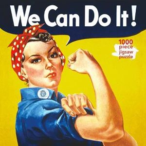 Picture of Adult Jigsaw Puzzle J Howard Miller: Rosie the Riveter Poster: 1000-piece Jigsaw Puzzles
